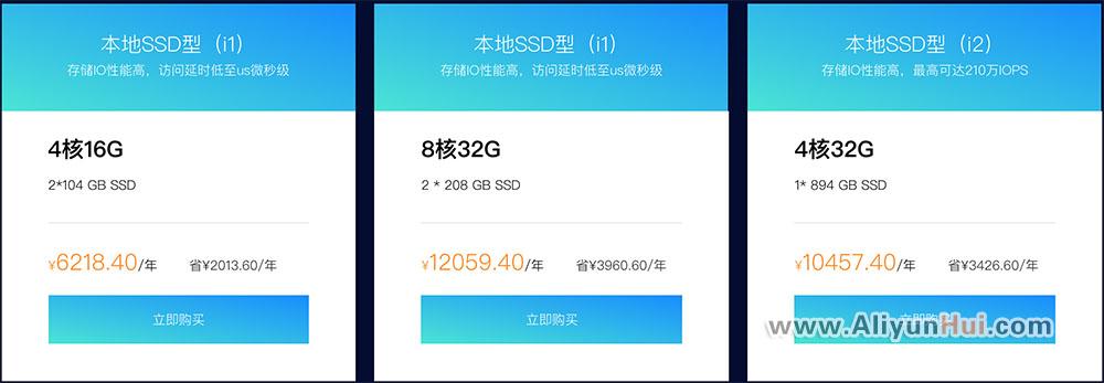 阿里云本地SSD型云服务器价格表