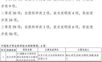 阿里云飞天获2017中国电子学会科技进步特等奖